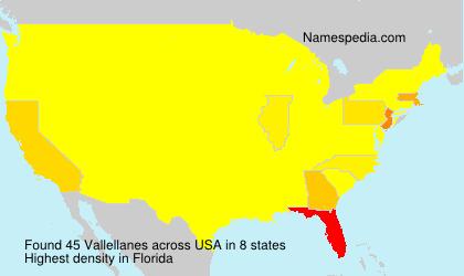 Familiennamen Vallellanes - USA