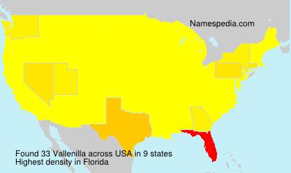 Surname Vallenilla in USA