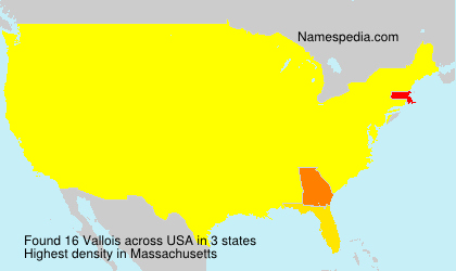 Surname Vallois in USA