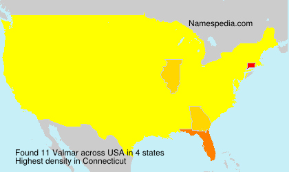 Familiennamen Valmar - USA
