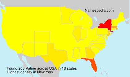 Surname Valme in USA