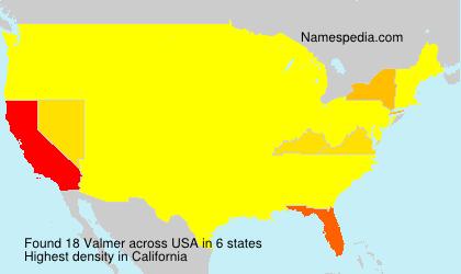 Familiennamen Valmer - USA