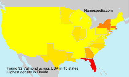 Surname Valmond in USA