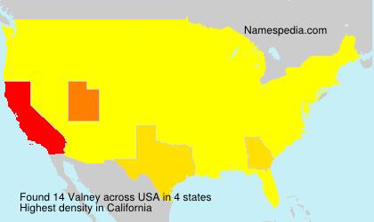 Familiennamen Valney - USA