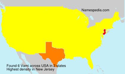 Familiennamen Vami - USA
