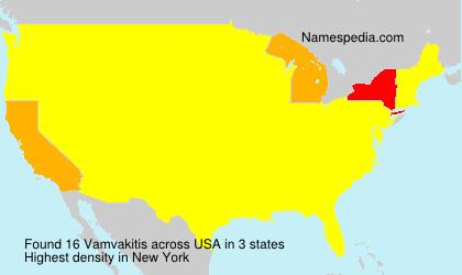 Surname Vamvakitis in USA