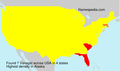 Surname Vanagel in USA