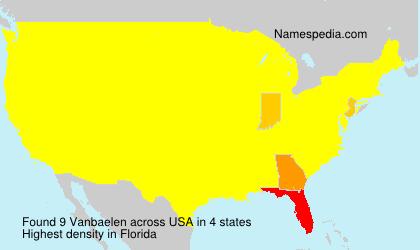 Surname Vanbaelen in USA