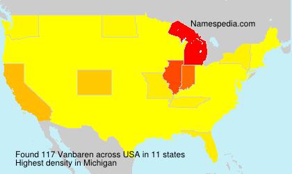 Surname Vanbaren in USA