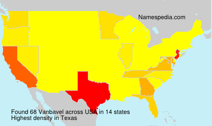 Surname Vanbavel in USA