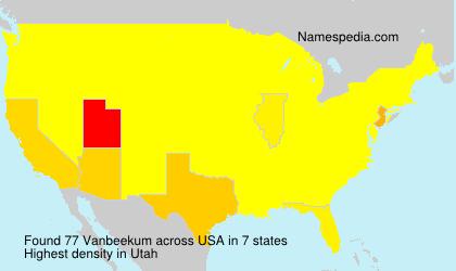Surname Vanbeekum in USA