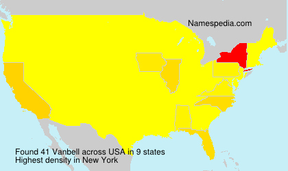 Surname Vanbell in USA