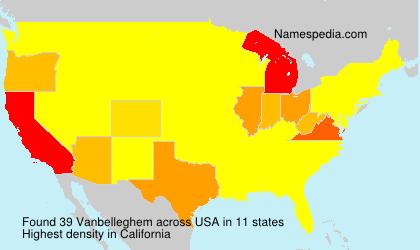 Surname Vanbelleghem in USA