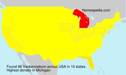 Surname Vanbennekom in USA