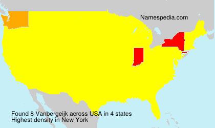 Surname Vanbergeijk in USA