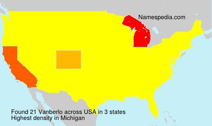 Surname Vanberlo in USA