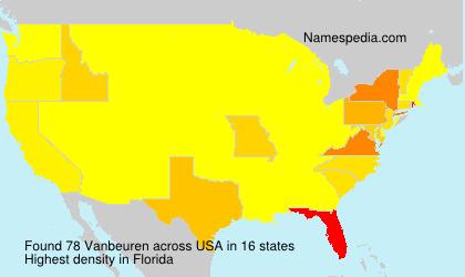 Surname Vanbeuren in USA