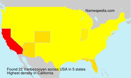 Surname Vanbezooyen in USA
