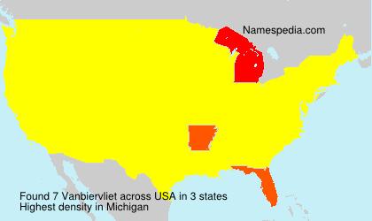 Surname Vanbiervliet in USA