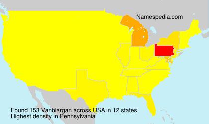Surname Vanblargan in USA