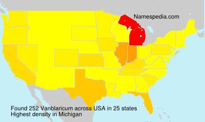 Surname Vanblaricum in USA