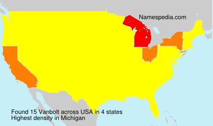 Surname Vanbolt in USA