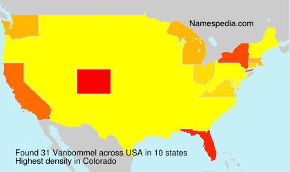 Surname Vanbommel in USA