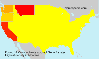 Surname Vanbouchaute in USA