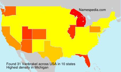 Surname Vanbrakel in USA