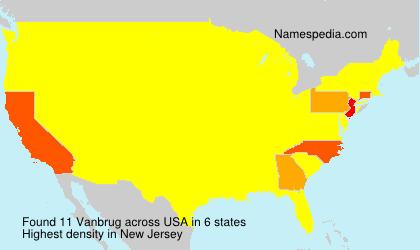 Surname Vanbrug in USA