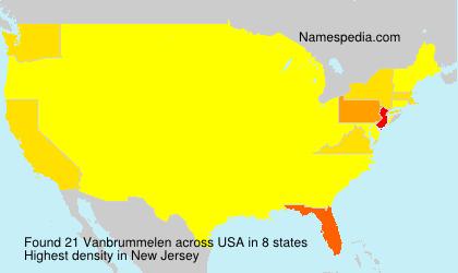 Surname Vanbrummelen in USA