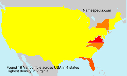 Surname Vanbumble in USA
