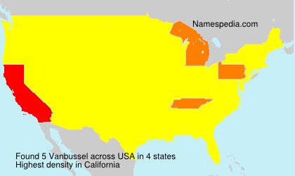 Surname Vanbussel in USA