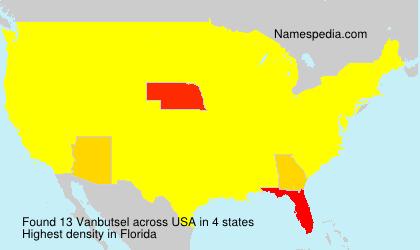 Surname Vanbutsel in USA