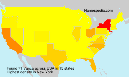 Surname Vanca in USA