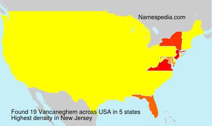 Surname Vancaneghem in USA