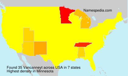 Surname Vancanneyt in USA