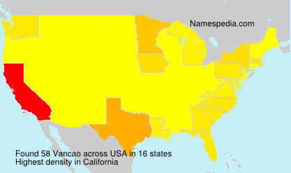 Surname Vancao in USA