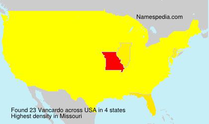 Surname Vancardo in USA