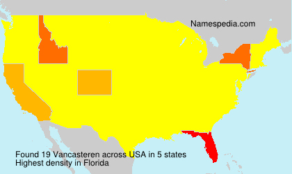 Surname Vancasteren in USA