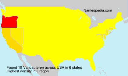 Surname Vancauteren in USA