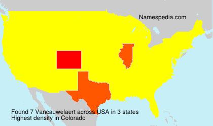 Surname Vancauwelaert in USA