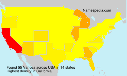 Surname Vancea in USA