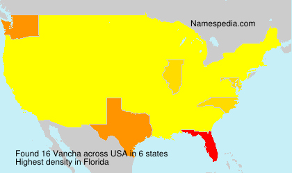 Surname Vancha in USA