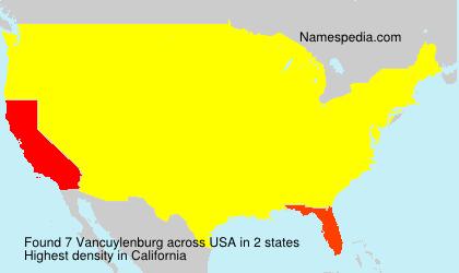 Surname Vancuylenburg in USA