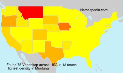 Familiennamen Vandekop - USA