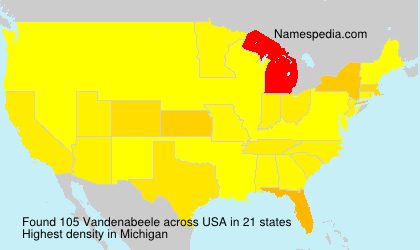 Familiennamen Vandenabeele - USA