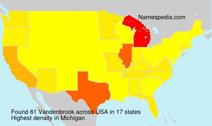 Surname Vandenbrook in USA