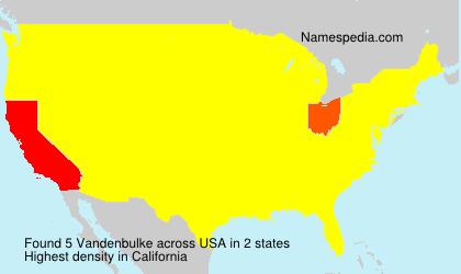 Surname Vandenbulke in USA