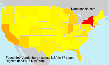 Surname Vandenburgh in USA